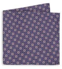 Saks Fifth Avenue COLLECTION Printed Silk Pocket Square