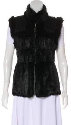 Linda Richards Zip-Up Fur Vest
