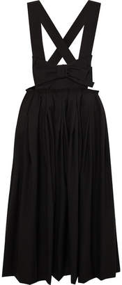 Comme des Garcons Bow-embellished Wool Midi Skirt - Black