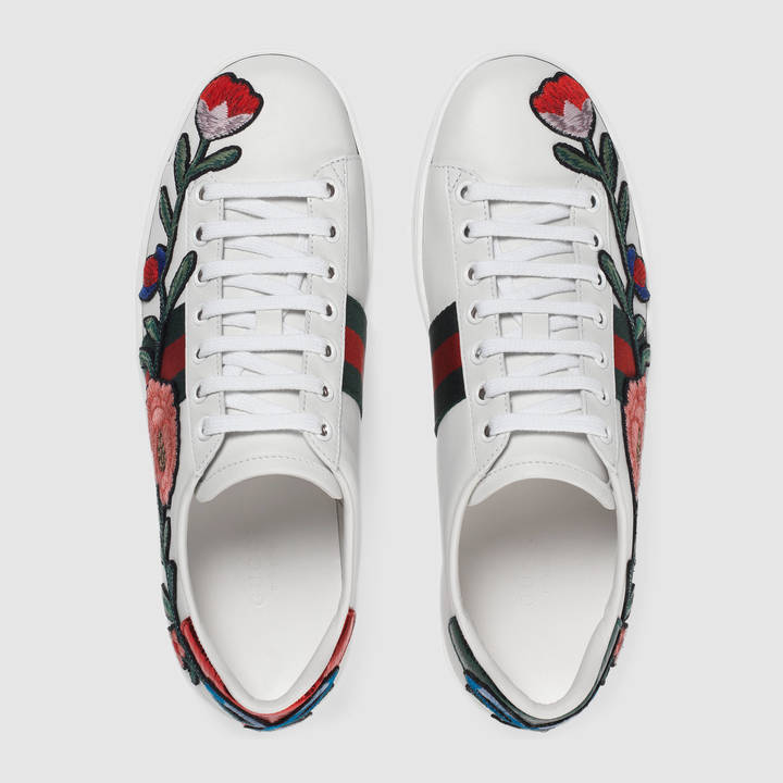 Ace embroidered low-top sneaker 5