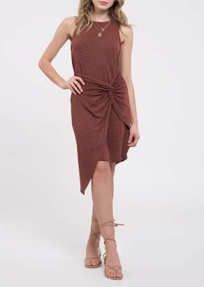 Blu Pepper Front Twist Sleeveless Knit Dress
