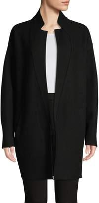 En Thread Open-Front Merino Wool Cardigan