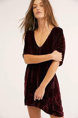 Cp Shades Crushed Velvet T-Shirt Dress