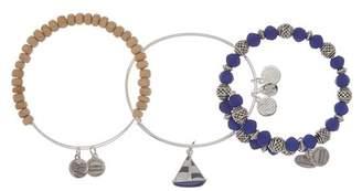 Alex and Ani Sailboat Beaded Expandable Wire Bracelet Set