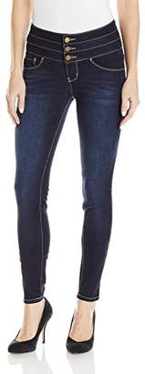 YMI Jeanswear Wome's Waabettashape Triple Butto High Rise Skiy