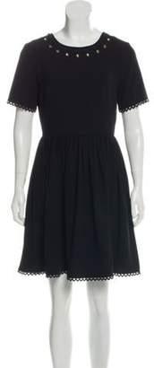 Kenzo Grommet Mini Dress Black Grommet Mini Dress