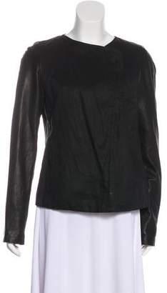 Vince Leather-Trim Jacket