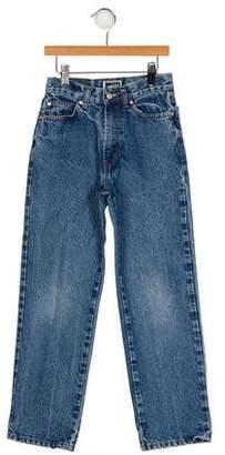 Versace Girls' Four Pocket Jeans