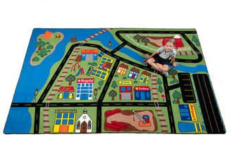Kid Carpet Total Transportation Play Town Area Rug Rug