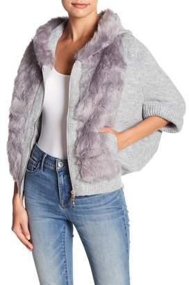 Fate Faux Fur Trim Knit Jacket