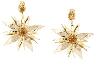 Oscar de la Renta starfish flower earrings