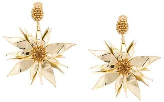 Oscar de la Renta starfish flower earrings