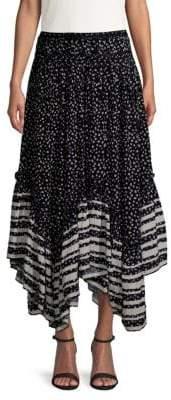 Love Sam Printed Midi Skirt