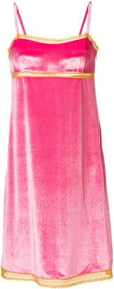 Alberta Ferretti contrast trim slip dress