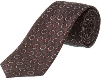 Dolce & Gabbana Black & Purple Polka Dot Silk Tie