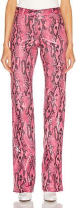 MSGM Snake Print Pant in Fuchsia | FWRD
