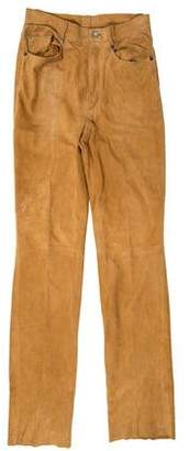 Loro Piana Mid-Rise Suede Pants