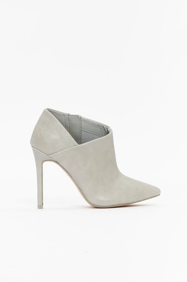 WallisWallis **Grey High Heel Pointed Shoe Boot