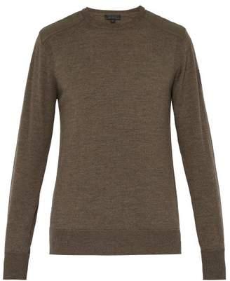 Belstaff Kerrigan Quilted Shoulder Wool Sweater - Mens - Brown