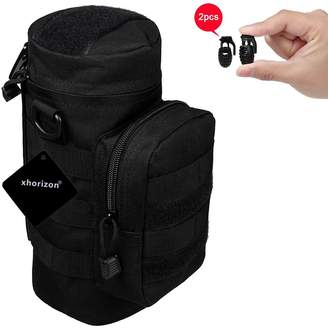 xhorizon TM SR Waterproof Nylon Heavy Duty Multi-purpose Water Bottle Pouch Holder Military Tactical Kettle Gear Molle Bag Outdoor Belt Pouch Waist Pack H2O Hydration Carrier