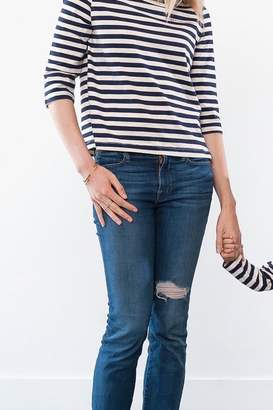 """Amour Vert Striped """"Mommy"""" Tee"""