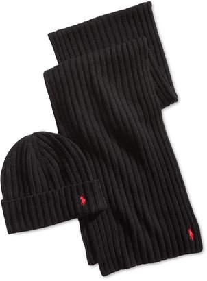 Polo Ralph Lauren Men Classic Ribbed Hat & Glove Gift Set