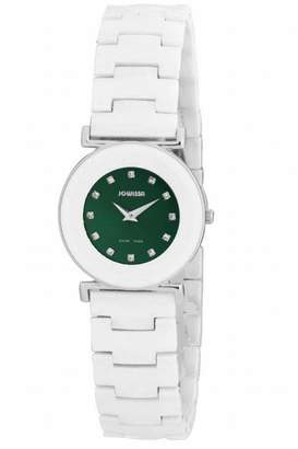 Jowissa Women's J3.057.M Elegance Stainless Steel Sunray Dial Ceramic Watch