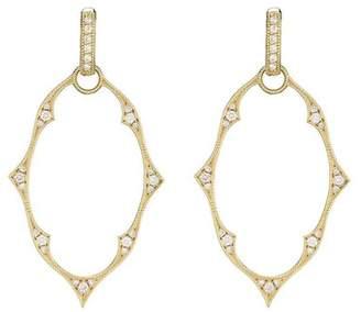 Jude Frances 18K Yellow Gold Moroccan Charm Frames 0.42ct. Diamond Earrings