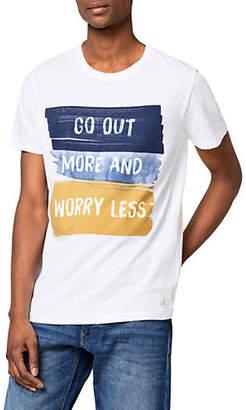 Esprit Go Out More Print T-Shirt
