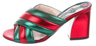 Gucci Webby Crossover Sandals