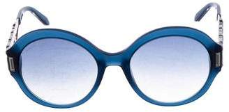 Swarovski Round Crystal-Embellished Sunglasses