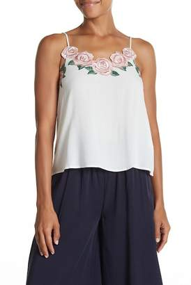 Elodie Embroidered Rose Cami