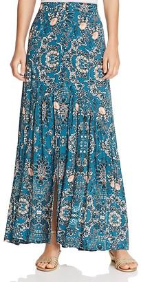 En Créme Button-Detail Maxi Skirt $68 thestylecure.com