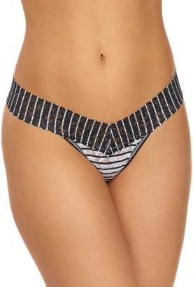 Hanky Panky Inside Out Stripe Stretch Lace Thong