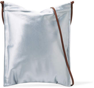 The Row Medicine Satin Shoulder Bag - Light blue