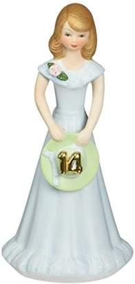 "Enesco Growing Up Girls ""Brunette Age 14"" Porcelain Figurine"