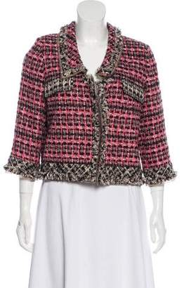 Oscar de la Renta Tweed Cropped Jacket