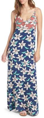 O'Neill Greta Floral Print Maxi Dress