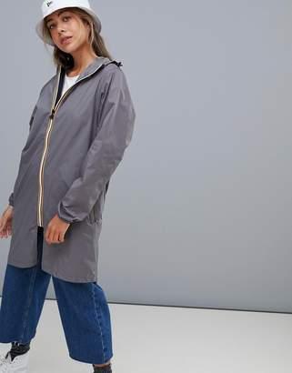 K-Way K Way Le Vrai 3.0 Eiffel jacket in gray