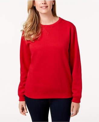Karen Scott Petite Crew-Neck Sweatshirt