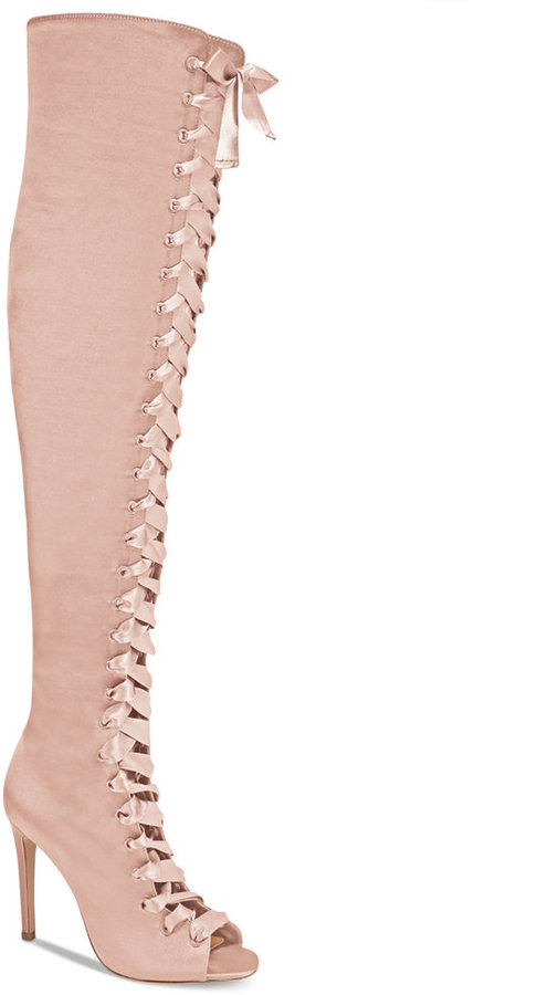 Aldo Cherisse Lace-Up Over-The-Knee Boots Women's Shoes