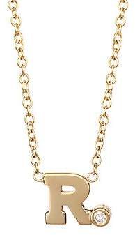 Chicco Zoe Women's Diamond & 14K Yellow Gold Initial Pendant Necklace