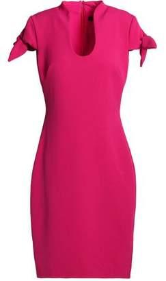 Badgley Mischka Bow-Detailed Crepe Dress