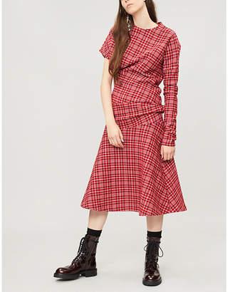 Calvin Klein Checked woven dress
