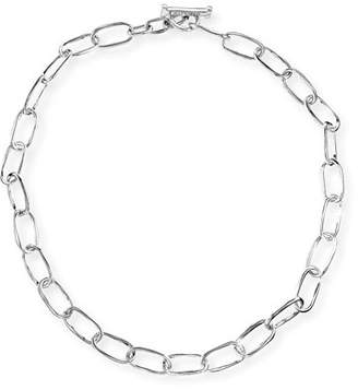 """Ippolita Silver Glamazon Elongated Oval Link Toggle Necklace, 18"""""""