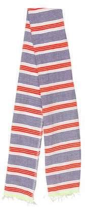 Lemlem Fringe-Trimmed Striped Scarf w/ Tags