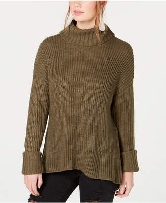 American Rag Juniors' Lace-Up Turtleneck Sweater