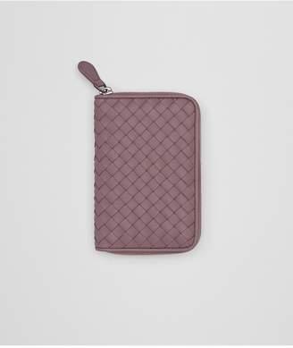 Bottega Veneta Zip-Around Wallet In Glicine Intrecciato Nappa Leather
