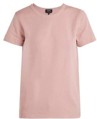 A.p.c. - Daniella Cotton Blend Jersey T Shirt - Womens - Light Pink