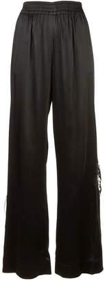 Jonathan Simkhai lingerie satin track pants